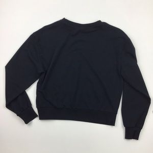 Wild Fable Black Cropped Sweatshirt Size S